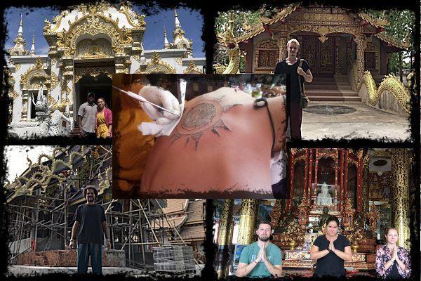 Sak Yant by Monk at Temple