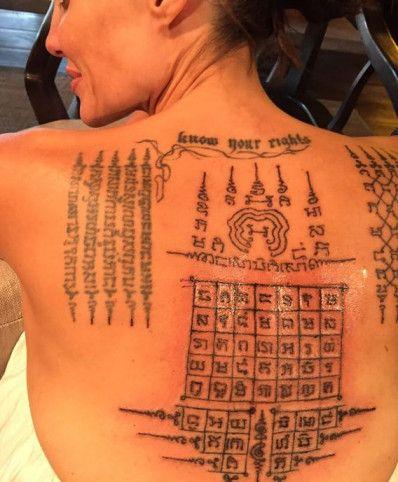 Angelina Jolie Sak Yant Tattoo's Mean